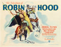 "Movie Posters:Swashbuckler, The Adventures of Robin Hood (Warner Brothers, 1938). Half Sheet(22"" X 28"") Style B.. ..."