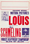 "Movie Posters:Sports, Joe Louis vs. Max Schmeling Boxing Poster (Empire City, 1937). One Sheet (28"" X 41"").. ..."