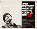"Movie Posters:Drama, One Flew Over the Cuckoo's Nest (United Artists, 1975). Half Sheet (22"" X 28"").. ..."