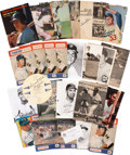 Baseball Collectibles:Photos, Baseball Stars Signed Photographs, Magazine Clippings, Etc. Lot of27....