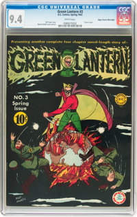 Green Lantern #3 Mile High pedigree (DC, 1942) CGC NM 9.4 White pages