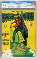 Golden Age (1938-1955):Superhero, Green Lantern #8 Mile High pedigree (DC, 1943) CGC NM+ 9.6 White pages....