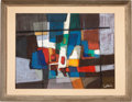 Movie/TV Memorabilia:Original Art, Untitled Abstraction by Lakos (European, 20th Century)....