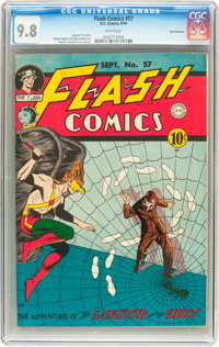 Flash Comics #57 San Francisco pedigree (DC, 1944) CGC NM/MT 9.8 White pages
