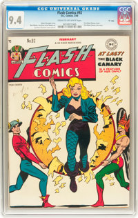 "Flash Comics #92 Davis Crippen (""D"" Copy) pedigree (DC, 1948) CGC NM 9.4 Cream to off-white pages"