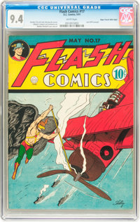 Flash Comics #17 Mile High pedigree (DC, 1941) CGC NM 9.4 White pages