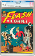 Golden Age (1938-1955):Superhero, Flash Comics #18 Mile High pedigree (DC, 1941) CGC NM 9.4 Off-white to white pages....