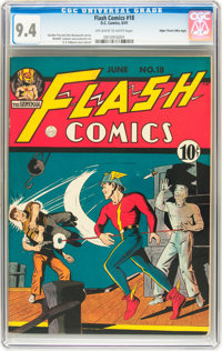 Flash Comics #18 Mile High pedigree (DC, 1941) CGC NM 9.4 Off-white to white pages