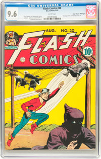 Flash Comics #20 Mile High pedigree (DC, 1941) CGC NM+ 9.6 White pages