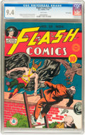 Golden Age (1938-1955):Superhero, Flash Comics #23 San Francisco pedigree (DC, 1941) CGC NM 9.4 White pages....