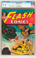 Golden Age (1938-1955):Superhero, Flash Comics #25 (DC, 1942) CGC NM 9.4 Cream to off-white pages....