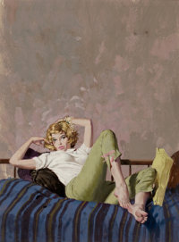 ROBERT MCGINNIS (American, b. 1926) So Rich, So Lovely, and So Dead, paperback cover, 1961 Gouache o