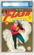Golden Age (1938-1955):Superhero, Flash Comics #26 Mile High pedigree (DC, 1942) CGC NM+ 9.6 Off-white pages....