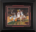 Basketball Collectibles:Others, Michael Jordan, Bugs Bunny, Daffy Duck and Friends Limited EditionSigned Hand Painted Cel #189/500 Original Art (Warner Bros....