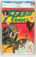 Golden Age (1938-1955):Superhero, Flash Comics #33 San Francisco pedigree (DC, 1942) CGC NM+ 9.6 White pages....