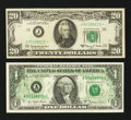 Error Notes:Error Group Lots, Error Group Lot: $1 Offset & $20 Star With Gutter Fold. . ...(Total: 2 notes)