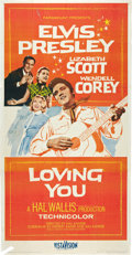 "Movie Posters:Elvis Presley, Loving You (Paramount, 1957). Three Sheet (41"" X 81"").. ..."