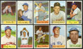 Autographs:Bats, 1954 Bowman Baseball Collection (80). ...