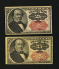 Fractional Currency:Fifth Issue, Fr. 1308 25¢ Fifth Issue Very Fine.. Fr. 1309 25¢ Fifth Issue VeryFine.. ... (Total: 2 notes)