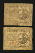 Colonial Notes:Continental Congress Issues, Continental Currency November 29, 1775 $2 Fine.. Continental Currency May 9, 1776 $2 Fine-Very Fine.. ... (Total: 2 notes)