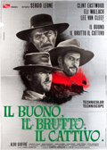 "Movie Posters:Western, The Good, the Bad and the Ugly (PEA, 1966). Italian 4 - Foglio (55"" X 77"").. ..."