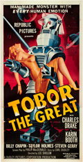 "Movie Posters:Science Fiction, Tobor the Great (Republic, 1954). Three Sheet (41"" X 81"").. ..."
