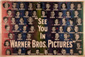 "Movie Posters:Miscellaneous, Warner Brothers Stars of 1949 Promotional Poster (Warner Brothers,1949). Horizontal Format Poster (60"" X 40"").. ..."