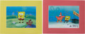 Movie/TV Memorabilia:Autographs and Signed Items, SpongeBob SquarePants Animation Cels.... (Total: 2 Items)