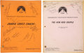 Movie/TV Memorabilia:Autographs and Signed Items, Joanie Loves Chachi and The New Odd Couple Cast-Signed Scripts.... (Total: 2 Items)