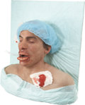 Movie/TV Memorabilia:Props, Tom and Bari Burman Nip/Tuck Prop Male Surgery SpecialEffects Bust....
