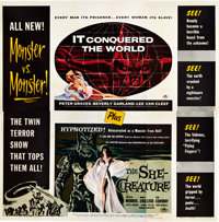 "It Conquered the World/The She-Creature Combo (American International, 1956). Six Sheet (81"" X 81"")"