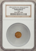 California Gold Charms, 1884-Dated Arms of California Gold Charm MS63 NGC. .22g....