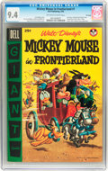 Golden Age (1938-1955):Funny Animal, Dell Giant Comics Mickey Mouse in Frontierland #1 - File Copy(Dell, 1956) CGC NM 9.4 Off-white to white pages....