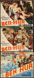 "Movie Posters:Historical Drama, Ben-Hur (MGM, R-1931). Title Lobby Card & Lobby Cards (2) (10""X 13""). Historical Drama.. ... (Total: 3 Items)"