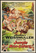 "Movie Posters:Adventure, Jungle Man-Eaters (Columbia, 1954). One Sheet (27"" X 41"").Adventure.. ..."