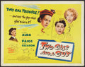 "Movie Posters:Comedy, Two Gals and a Guy (United Artists, 1951). Half Sheet (22"" X 28""). Comedy.. ..."