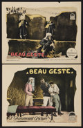 "Movie Posters:Adventure, Beau Geste (Paramount, 1926). Lobby Cards (2) (11"" X 14"").Adventure.. ... (Total: 2 Items)"