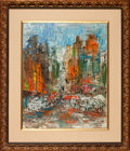 Movie/TV Memorabilia:Original Art, New York Traffic by Meinsdorff Used in Here'sLucy....