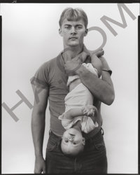 RICHARD AVEDON (American, 1923-2004) John Harrison, lumber salesman and his daughter Melissa, Lewisville, TX, (