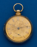Timepieces:Pocket (pre 1900) , J. Cole, London, 18k Gold Lever Fusee. ...