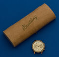 Timepieces:Wristwatch, Breitling, 18k, Vintage Chronomat with Box. ...