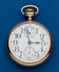 Timepieces:Pocket (post 1900), Elgin, 21 Jewel, 16 Size, Father Time, Up Down Indicator. ...