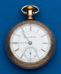 Timepieces:Pocket (post 1900), Hampden, 15 Jewels, 18 Size. ...