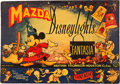 "Movie Posters:Animated, Fantasia (RKO, 1940). British Mazda Tabletop Standee (16.5"" x11.25"").. ..."
