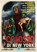 "Movie Posters:Science Fiction, The Colossus of New York (Paramount, 1958). Italian 4 - Foglio (55""X 78"").. ..."