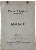 Movie/TV Memorabilia:Memorabilia, Original Tarbell System Magic Book, 1926....