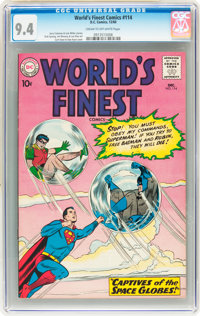 World's Finest Comics #114 (DC, 1960) CGC NM 9.4 Cream to off-white pages