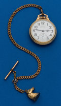 Timepieces:Pocket (post 1900), Hamilton, 992B, With Chain. ...