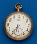 Timepieces:Pocket (post 1900), Illinois, 21 Jewels, Sterling Grade, 16 Size. ...