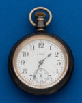 Timepieces:Pocket (post 1900), Elgin, 4 Ounce Sterling, 18 Size, Open Face, 7 Jewels. ...